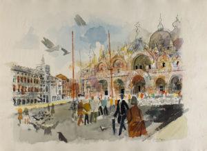Wendelin Kusche, Markusplatz in Venedig