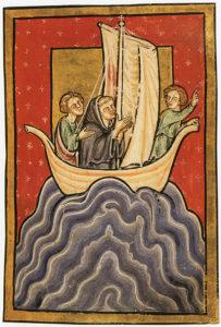 Abb.: Miniatur aus einem Manuskript von Beda Venerabilis' Vita sancti Cudbercti, 12. Jh.