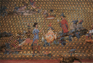Abb.: Bayreuth, Altes Schloss Eremitage, Japanisches Kabinett, Deckenbild (Detail)