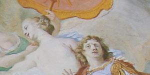 Abb.: Schleißheim, Neues Schloss, Prunktreppenhaus, Deckenfresko von Cosmas Damian Asam (Detail)