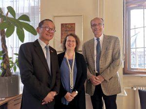 Prof. Guo Hao, Prof. Dr. Christina Strunck und Prof. Dr. Günter Leugering