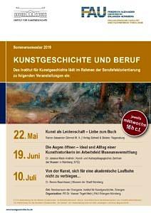 Poster Kunstgeschichte und Beruf SoSe2019