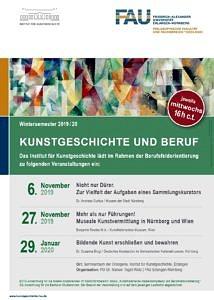 Poster Kunstgeschichte und Beruf WiSe2019-20