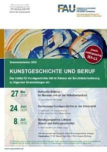 Poster Kunstgeschichte und Beruf SoSe 2020